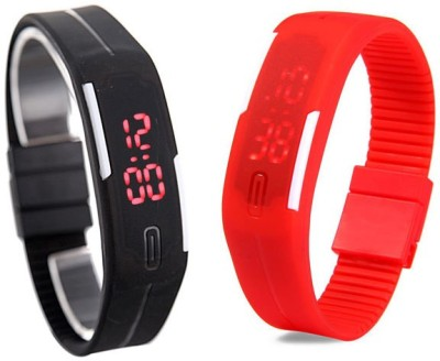 Y And D LED Band Combo Digital Watch - For Boys, Men, Girls, Women