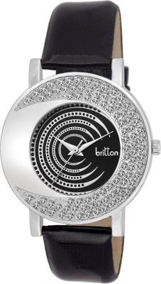BRITTON CRYSTAL STUDDED-BR-LR002-BLK Analog Watch  - For Girls