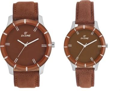 Dezine COUPLE COMBO-605 BROWN Analog Watch  - For Men