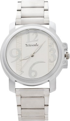 Telesonic GCS10-SILVER Platinum Time Analog Watch  - For Men