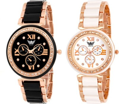 Abrexo Abx-703W-703B Dazzle Analog Watch  - For Women