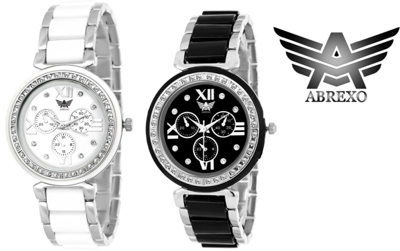 Abrexo Abx 703BS 703WS Dazzle Analog Watch For Women