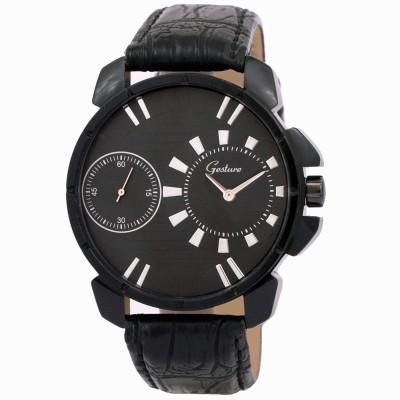 Gesture Gesture Elegant 3038-BK Dual Time Watch Analog Watch  - For Men