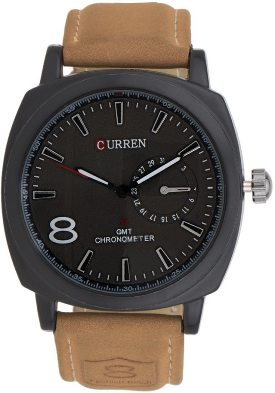 Curren CURRENA8139 LEATHER BLACK DIAL Analog Analog Watch Fo