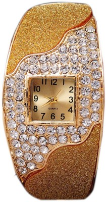 Geneva Gold Plated Bracelet Analog Watch  - For Women