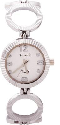 Telesonic TDLX-107 (White) Crystal Era Analog Watch  - For Women