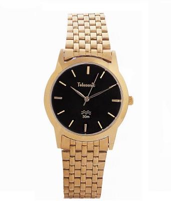 Telesonic 19RGBCM-02 BLACK Golden Era Analog Watch  - For Men