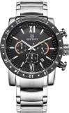 Megir 3008-SLV-BLK Analog Watch  - For M...