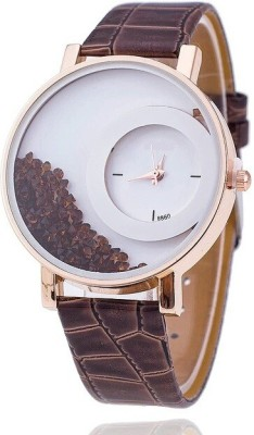 Zillion Presents MxRe Brown Moving Diamond Analog Watch  - For Women, Girls
