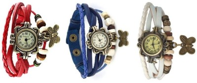 H.P.D Butterfly Combo Bracelet Look Analog Watch  - For Girls, Women