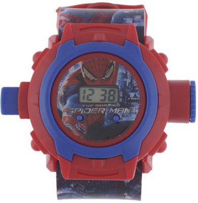Navyamall Birthday GIFT SPIDER MAN 24 Photo PROJECTOR LED Sports Ghadi For Kids Digital Watch  - For Boys