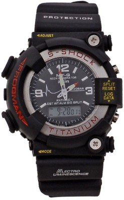RTimes S-SHOCK Series Sports Style Analog-Digital Watch  - For Boys, Men
