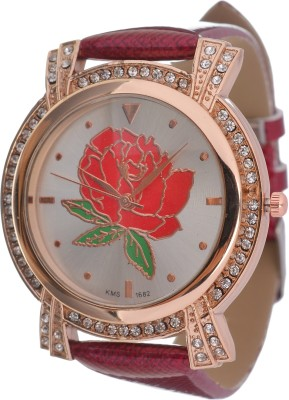 RBS Online Trading Company ReD RoseDial Analog Watch  - For Women, Girls