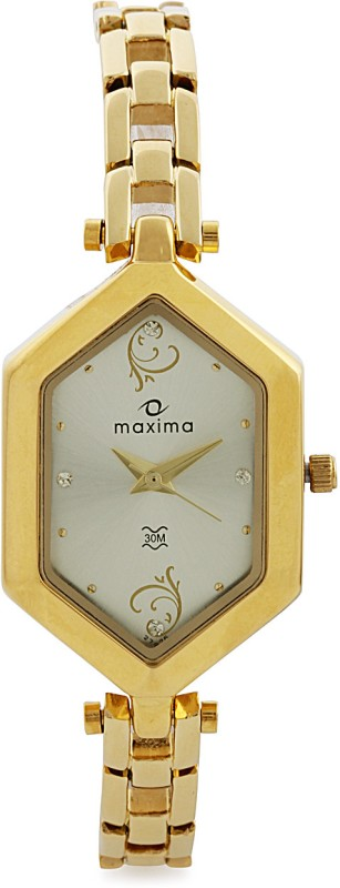 Maxima 27926BMLY Gold Analog Watch For Women