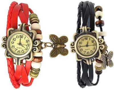 Ely Bracelet Butterly vintage watches Vintage Butterfly Analog Watch  - For Women
