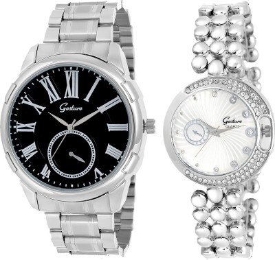 Gesture Elegant combo EG12 Elegant Analog Watch  - For Couple