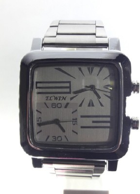 Elwin Dual time square silky Analog Watch  - For Men