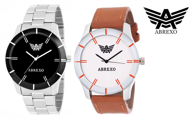 Abrexo Abx 1501 ORNGWHT 1501Blk fashion freak Analog Watch For