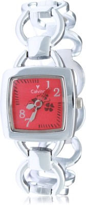 Calvino CLBC-153736-L_silver red Gorgeous Analog Watch  - For Women