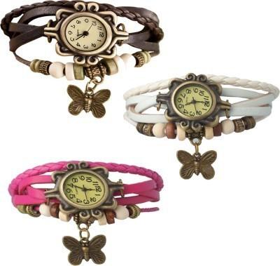 Lexin FS4676 Leather Strap, Vintage Watch Analog Watch  - For Girls, Women