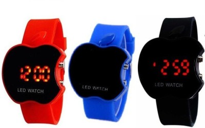 Users LD3RB2 Okey Kuttu_Favorite Apple shaped LED Combi for all Digital Watch  - For Boys, Girls, Couple