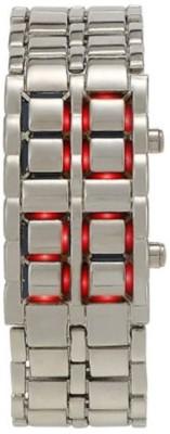 FashionArt Silver Led Chain Analog-Digital Watch  - For Girls