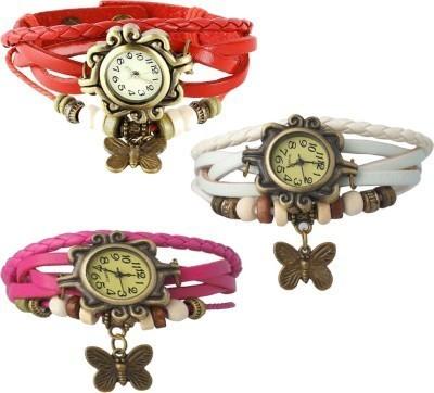 Lexin FS4682 Leather Strap, Vintage Watch Analog Watch  - For Girls, Women