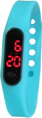 Frenzy Sleek_Ultra Thin_Turquoise_LED Digital Watch  - For Men, Women, Boys, Girls