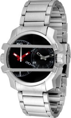 Yashmit Dual Time Silver Black Forest Style YE-4266 Analog Watch  - For Men