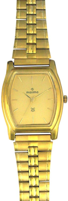 Maxima 14752CPGY Mac Gold Analog Watch For Men