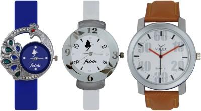 Frida Designer VOLGA New Branded Type Watches Men and Women Combo539 VOLGA Frida Couple Analog Watch  - For Couple
