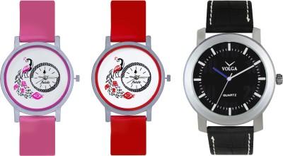 VOLGA Designer FVOLGA Beautiful New Branded Type Watches Men and Women Combo159 VOLGA Band Analog Watch  - For Couple