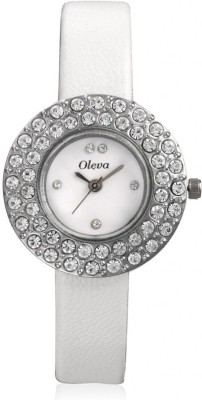 Oleva Olw-16 White Analog Watch  - For Women