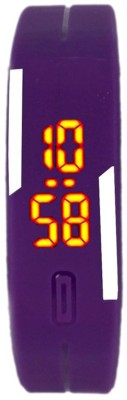 Fancy RUBBER MAGNET PURPLE Digital Watch  - For Boys, Men, Girls