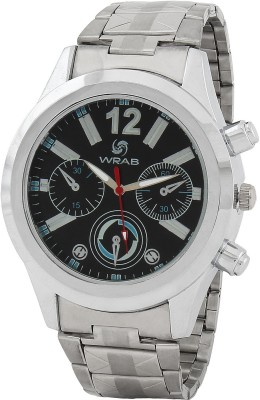 Wrab 12-3chrono-blk Analog Watch  - For Men