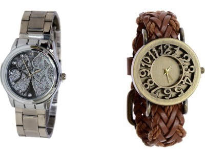 Sooms UY0955 PACK OF 2 MAGNIFICENT WOMEN WATCHES Analog Watch  - For Women