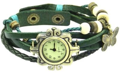 Pourni Vintage White Leather Analog Watch  - For Women