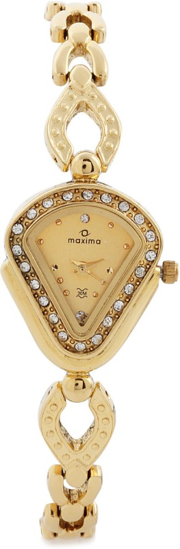 Maxima 22741BMLY Gold Analog Watch For Women