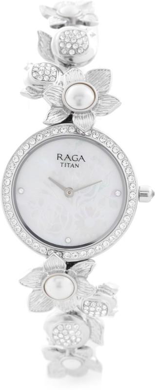Titan 95043SM01J Analog Watch For Women