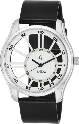 Britton Transparent-BR-GR166-WHT-BLK Analog Watch  - For Boys