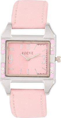 Adine AD-1229 PINK-PINK Fasionable Analog Watch  - For Women