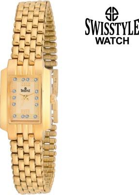 Swisstyle Golden-LSQ077-GLD Analog Watch  - For Girls