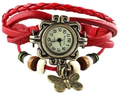 Geneva Time 033 Vintage Butterfly Analog Watch  - For Girls, Women