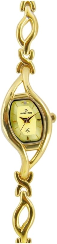 Maxima 25572BMLY Gold Analog Watch For Women