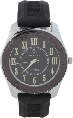 Optima FT-ANL-2521-BK Fashion Track Analog Watch  - For Men