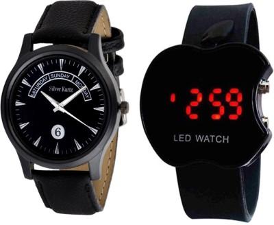 Silver Kartz SMART WEEKEND LED DIGITAL Analog-Digital Watch  - For Men, Women, Boys, Girls