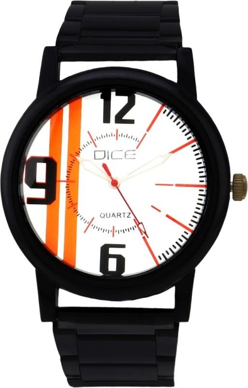 Dice DCMLRD38SSBLKWIT504 Black Track Analog Watch For Men