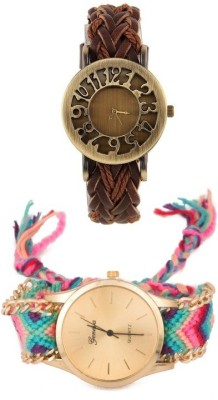 Shoppingekart HG3302 Hollow Wooven & Stylish Geneva Premium Analog Watch  - For Girls, Women