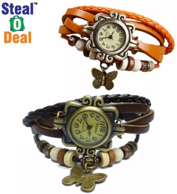 Stealodeal Brown With Red Rakhi Butterfly Analog Watch  - For Boys, Couple, Girls, Men, Women