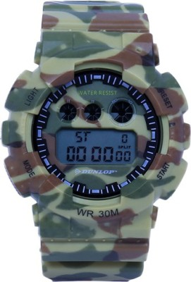 Dunlop DUN-267-G12 Camo Digital Watch  - For Men